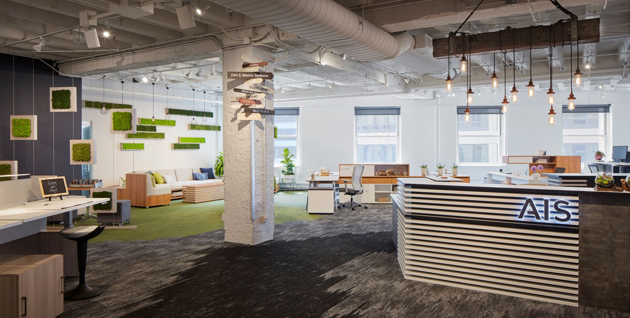 ais-chicago-showroom-at-neocon-2018-with-custom-reception-lb-lounge-rutland-perch-seating-and-calibrate-community_md